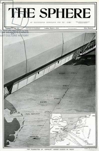 Zeppelin airship flights by night, by G. H. Davis