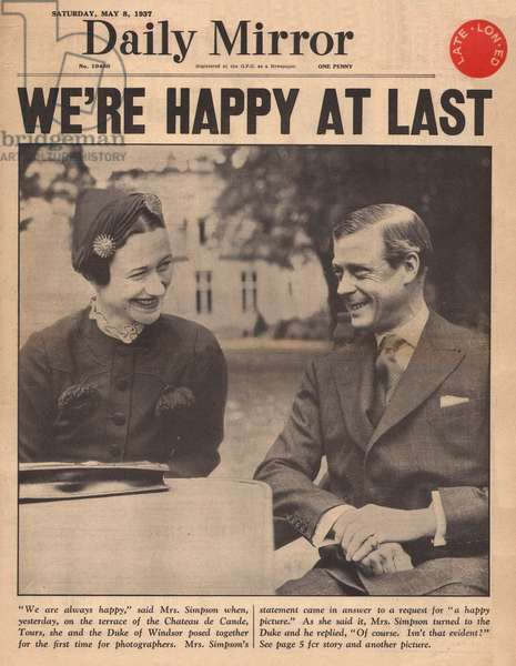 Duke of Windsor and Wallis Simpson in France