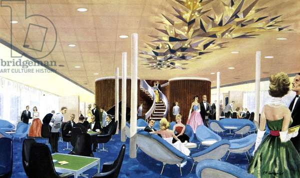 Canberra: The First Class Lounge.