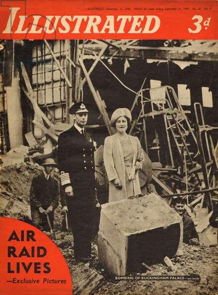 George VI and Queen Elizabeth, WW2