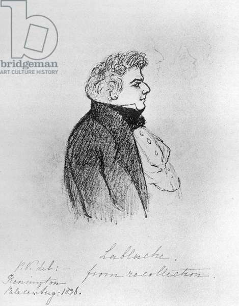 Luigi Lablache sketched by Queen Victoria