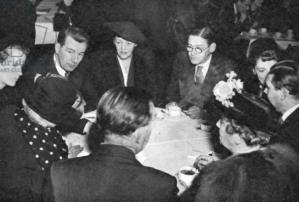 Luncheon of Anglo-Swedish Society with T.S. Eliot