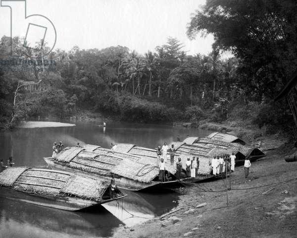 River boats, Ceylon (Sri Lanka)