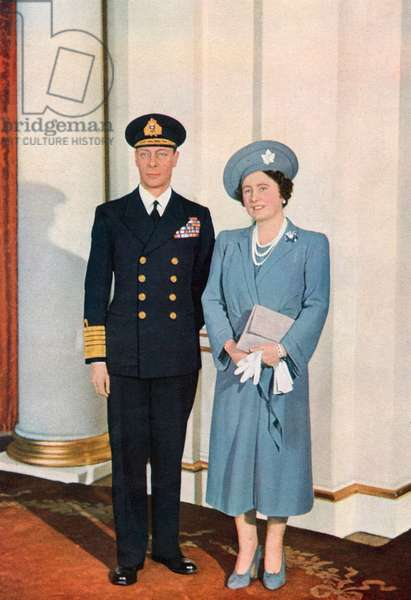 King George VI and Queen Elizabeth, special ILN photo,1942