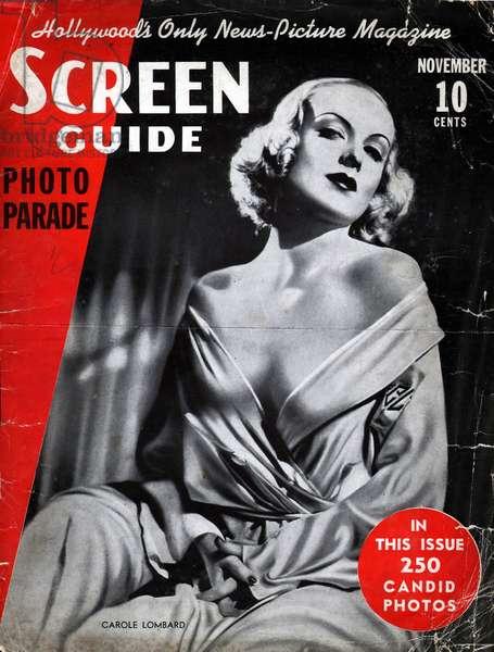 Film actress Carole Lombard