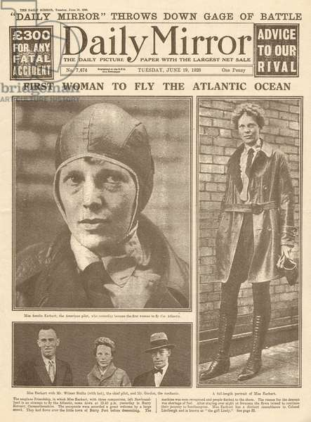 Amelia Earhart, first woman to fly the Atlantic