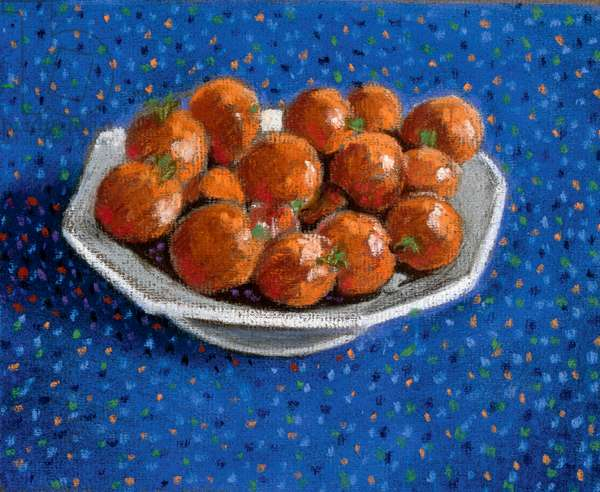 Cherry Tomatoes in a white dish