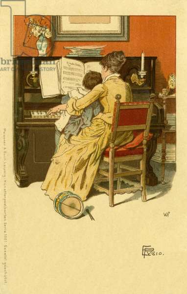 Mother & child at the piano