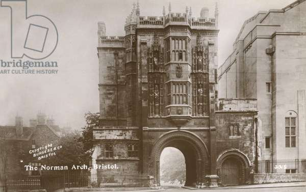 The Norman Arch, Abbey Gateway, Bristol