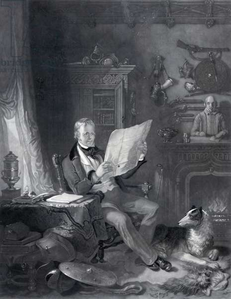 Sir Walter Scott, Bart. in his study at Abbotsford