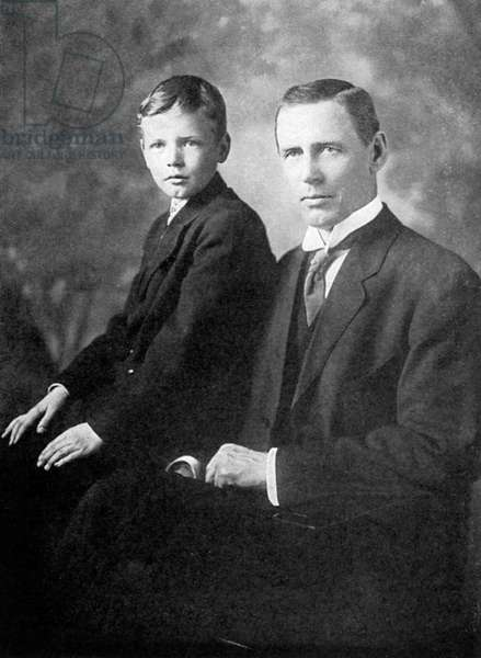 LINDBERGH AND FATHER