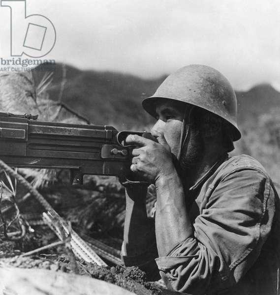 Japanese Machine Gunner