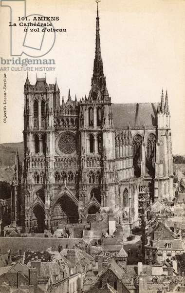 West Front of Cathedral of Our Lady of Amiens, France
