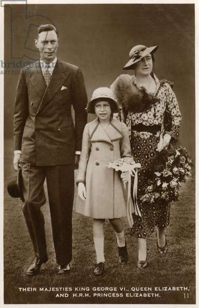 King George VI, Queen Elizabeth and Princess Elizabeth