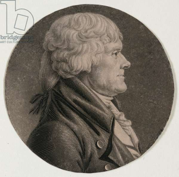 Thomas Jefferson, head-and-shoulders portrait, facing right