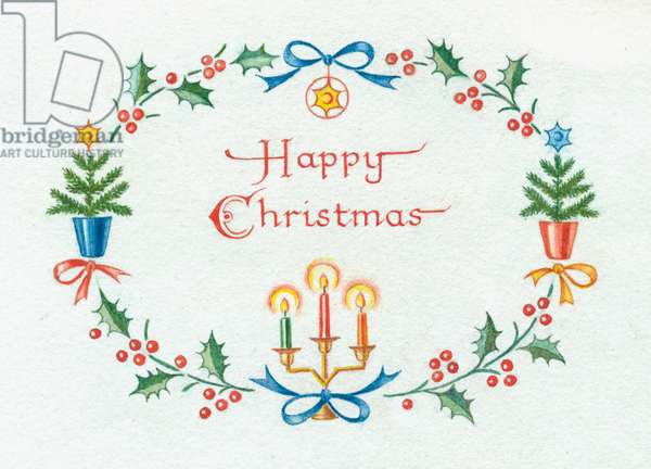 Happy Christmas with border design