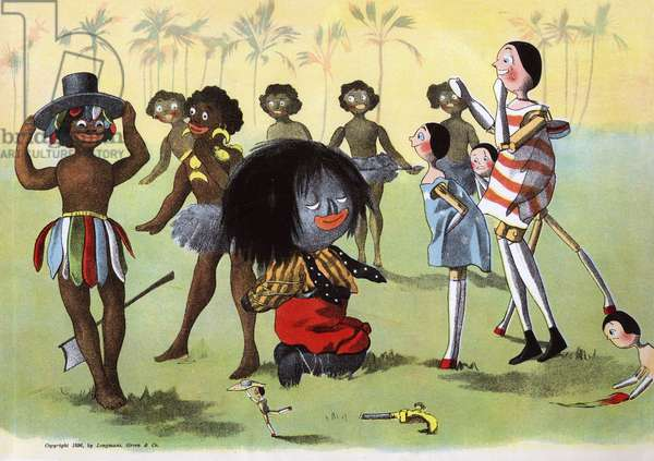 The Golliwogg's Bicycle Club - King bribed with Golly's hat