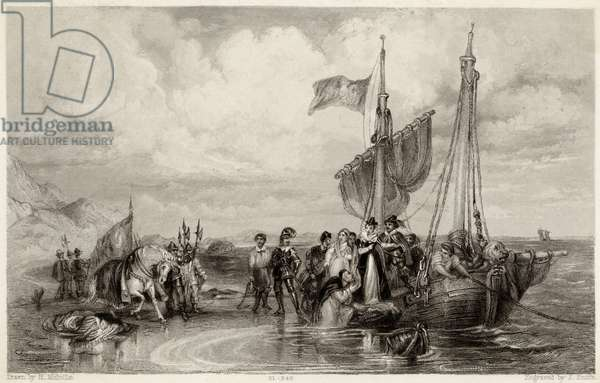 QUEEN OF SCOTS EMBARKS