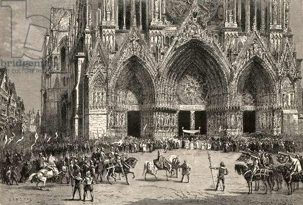 Le sacre de Charles VI a Reims