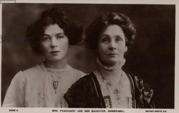 Emmeline Pankhurst & Christabel