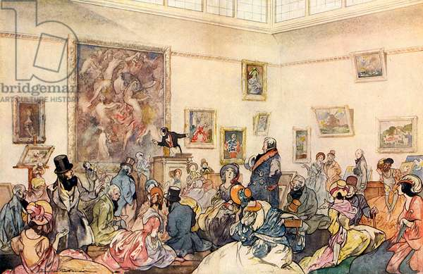 A Sale at Christie's in the 1850s by Charles Robinson