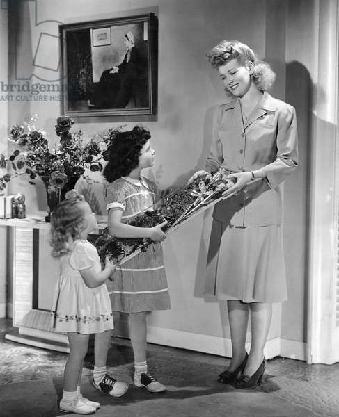 GIVING MOTHER FLOWERS