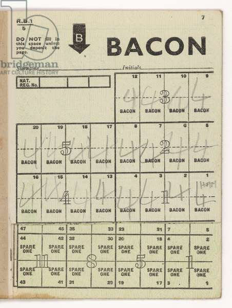 BACON RATION COUPONS