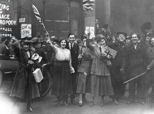 Armistice Day in London 1918