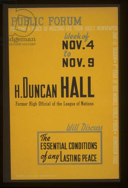 Public forum - H. Duncan Hall, former high official of the L