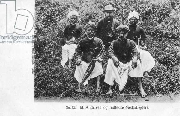 Danish Missionary in India, M. Andersen and staff