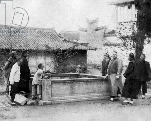 Communal water tank, China