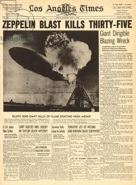 Hindenburg Zeppelin disaster