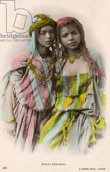 Two Young Bedouin Girls - Algeria, North Africa