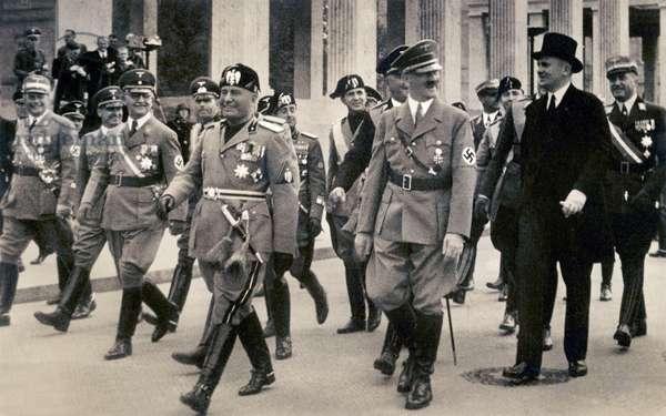 Benito Mussolini et Adolf Hitler