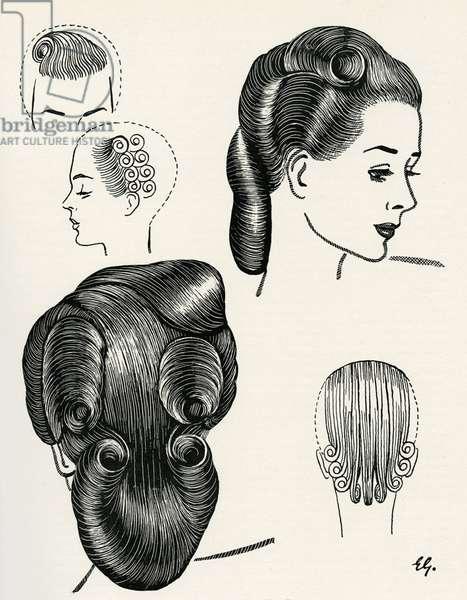 Compact Pageboy Bob Hairstyle Diagrams