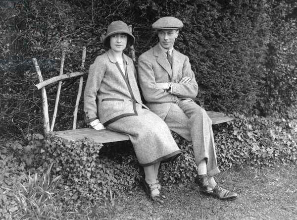 King George VI and Queen Elizabeth on honeymoon