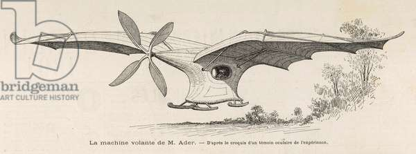 The Airplane I of Clement Ader