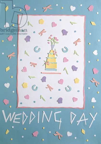 Wedding Day paper collage