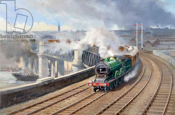 Newcastle with Flying Scotsman Train
