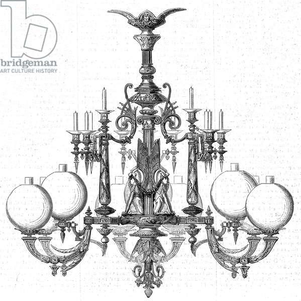 Goelzer Gas lit chandelier