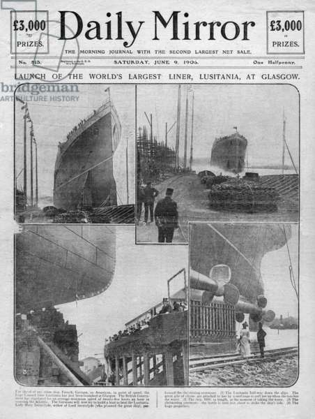 Launch of the Lusitania at Glasgow