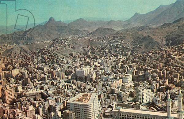 Saudi Arabia - Aerial View of the City of Mecca