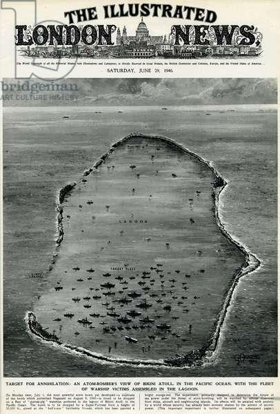 Atom bomber's view of Bikini Atoll by G. H. Davis
