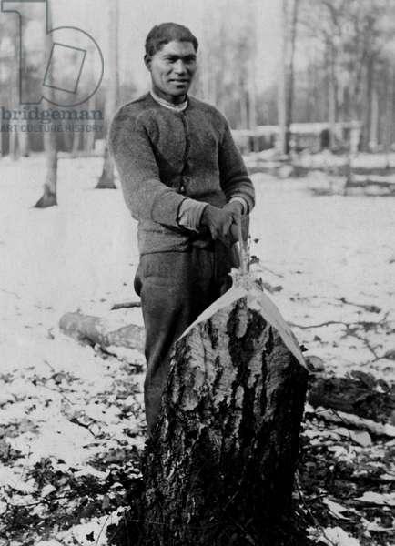 Maori soldier on Western Front, France, WW1