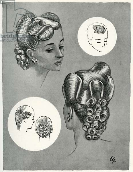 Cascade hairstyle 1940s
