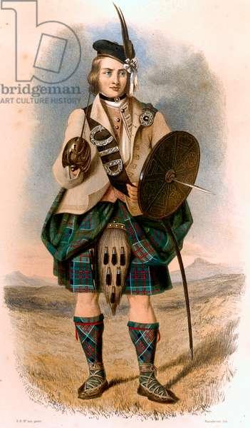 Clanranald scottish clan highland costume and kilt