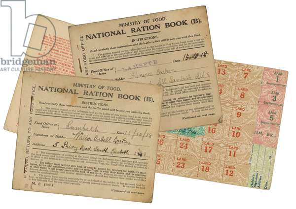 WWI/RATION BOOKS