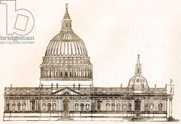First Design For St Paul\'s Cathedral, London