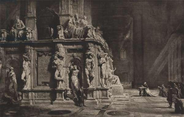 Ideal reconstruction of tomb of Pope Julius II, (print, c.1900)