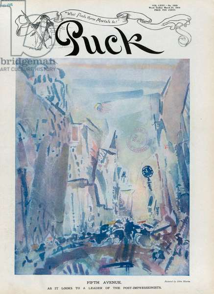 Movement: Fifth Avenue, on the cover of Puck 21 March 1921 (lithograph)